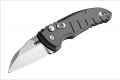 Hogue Taschenmesser A01-Microswitch, Compact Wharncliffe Grey