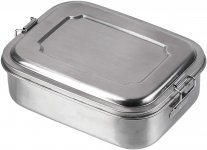 Mil-Tec - Lunchbox, Stainless Steel, 16x13x6,2 cm