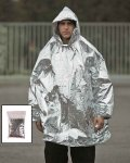 SURVIVAL PONCHO SILBER