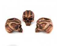 Cyber Skull Bead (Kupfer-Finish)