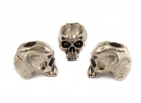 Cyber Skull Bead - Zinn (Steel-Finish)