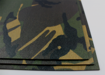 KYDEX / Stärke: 2,0 mm / Dutch Woodland Camo / Platte ca. 200x300 mm
