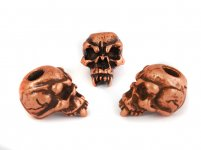 Fang Skull Bead - Zinn (Kupfer-Finish)