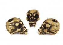 Fang Skull Bead - Zinn (Messing-Finish)