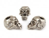 Fang Skull Bead - Zinn (Steel-Finish)