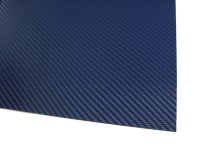 HOLSTEX / Platte ca. 200x300 mm / Stärke: 1,5 mm / Police Blue - Carbon Fiber