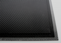 HOLSTEX / Stärke: 2,0 mm / Black - Carbon Fiber / Platte ca. 300x600 mm