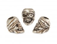 One-Eye-Jack Skull Bead - Zinn (Steel-Finish)