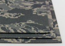 KYDEX / Stärke: 2,0 mm / Tiger Stripe Camo / Platte ca. 200x300 mm
