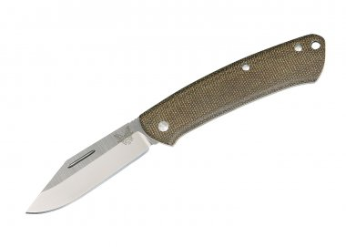 Benchmade Taschenmesser 318 Proper, Dark Brown Canvas Micarta
