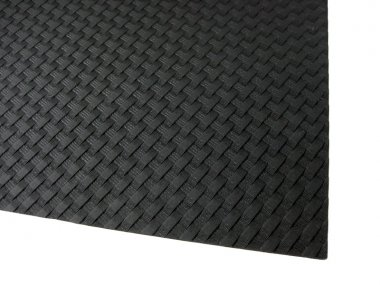 HOLSTEX / Stärke ca. 2,0 mm / Platte ca. 200x300 mm / Black - Basket Weave