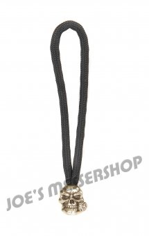 Standard Zipper Rose Skull - Zinn (Steel-Finish)