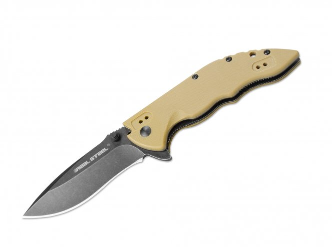 REAL STEEL KNIVES - E77 - (Coyote Handle)