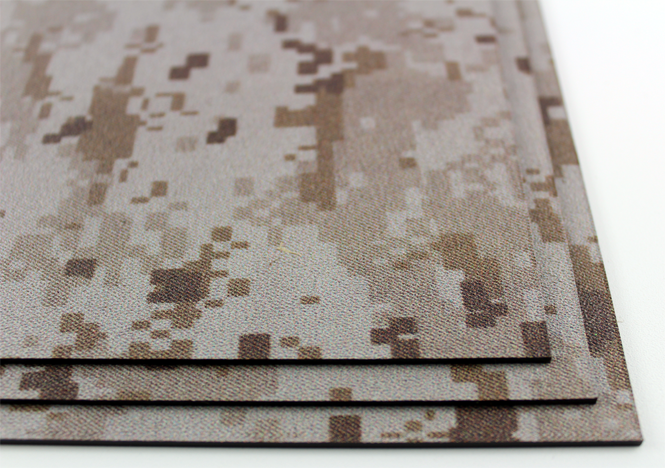 KYDEX / Stärke: 2,0 mm / Desert Digital Camo / Platte ca. 200x300 mm
