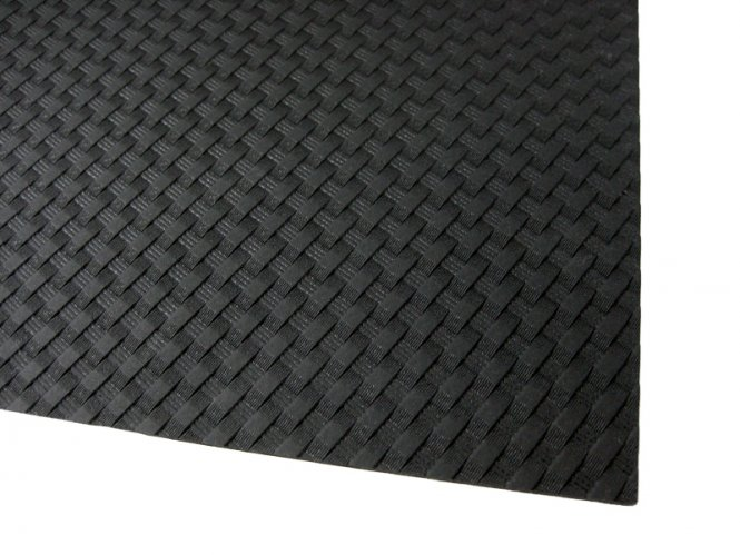 HOLSTEX / Stärke ca. 2,0 mm / Platte ca. 300x600 mm / Black - Basket Weave