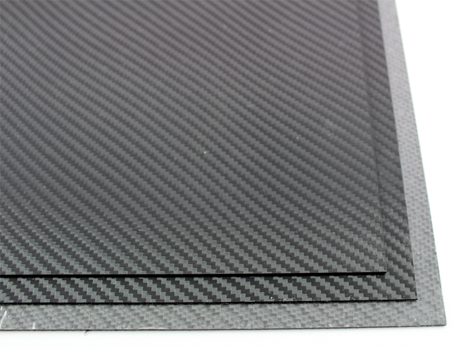 HOLSTEX / Platte ca. 200x300 mm / Stärke: 2,0 mm / Storm Gray - Carbon Fiber