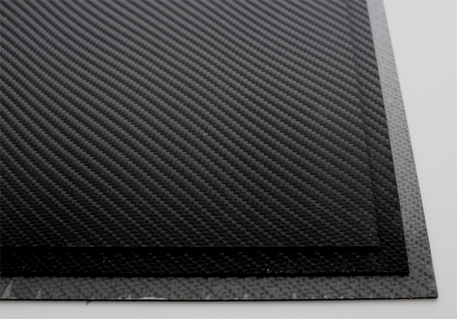 HOLSTEX / Stärke: 2,0 mm / Black - Carbon Fiber / Platte ca. 200x300 mm