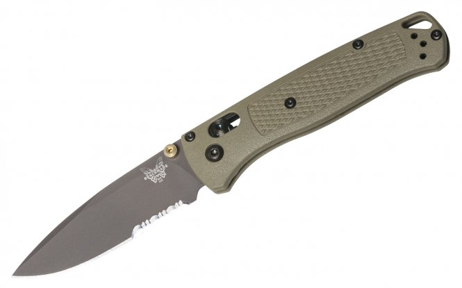 Benchmade Taschenmesser 535SGRY-1 BUGOUT Ranger Green, AXIS (Welle)