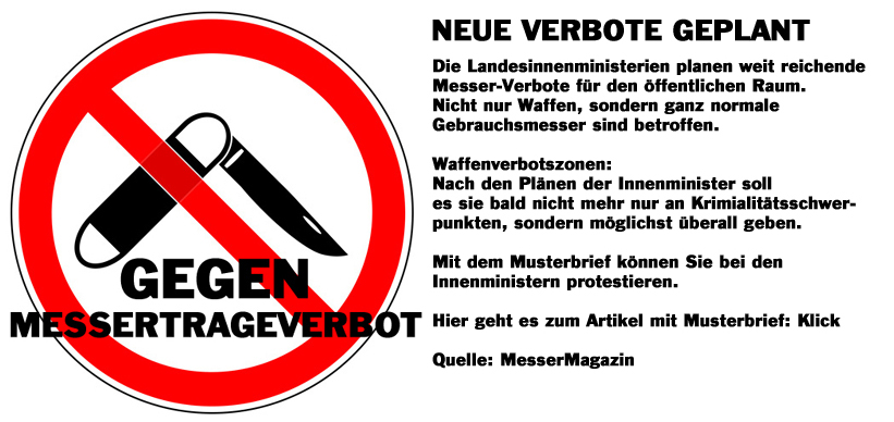 Gegen Messertrageverbot